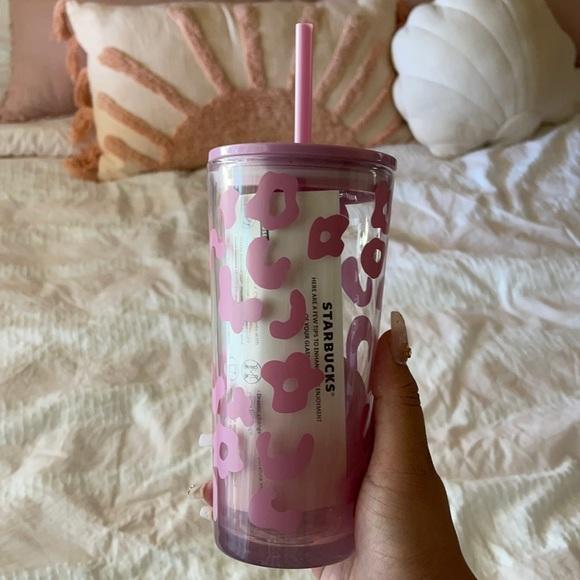 NEW Starbucks Cheetah Summer 2021 glass tumbler